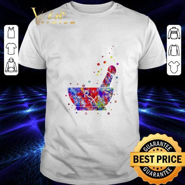 Original Pharmacist Pestle Rx medical colorful shirt