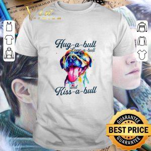 Original Pitbull colorful hug a bull love a bull and kiss a bull shirt