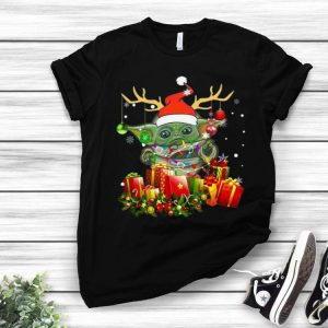Santa Baby Yoda Reindeer Christmas Light Christmas Gift shirt