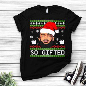 Santa Lebron James So Gifted Ugly Christmas shirt