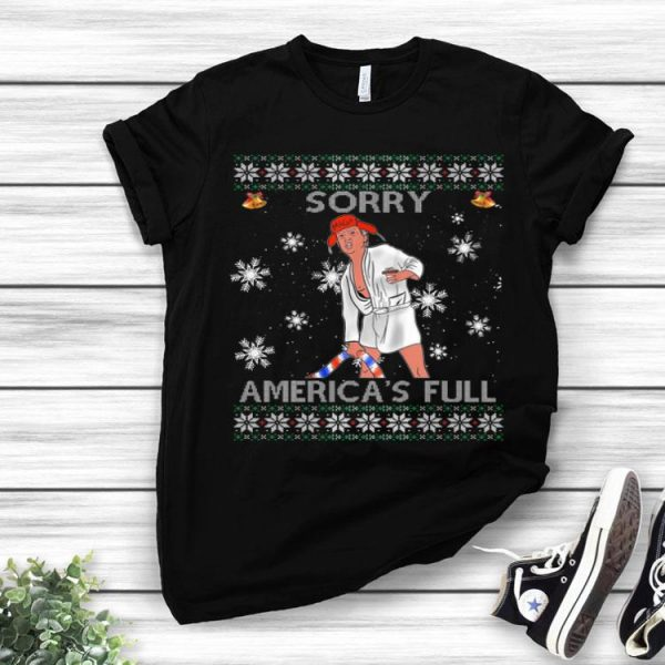Sorry America's Full Funny Anti Trump Ugly Christmas shirt