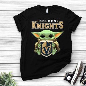 Star Wars Baby Yoda Hug NHL Golden Knights shirt