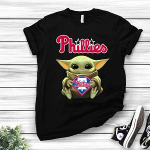 Star Wars Softball Baby Yoda Hug Philadelphia Phillies shirt
