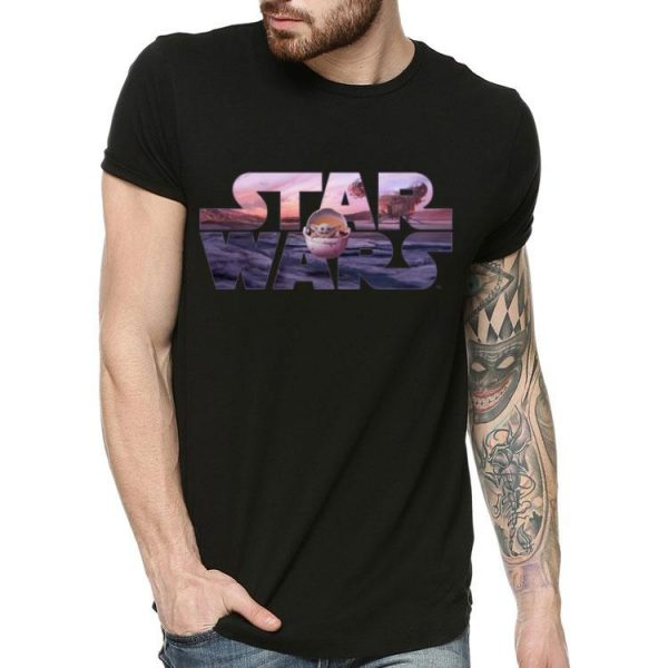 Star Wars The Mandalorian Razor Crest Floating Pod Baby Yoda shirt