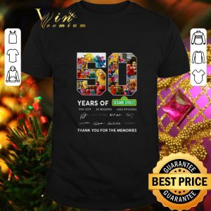 Top 50 years of 123 Sesame Street 1969 2019 thank you for the memories shirt