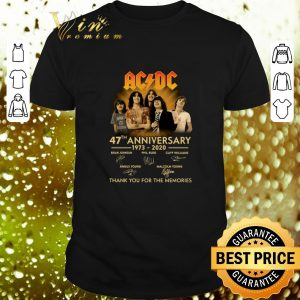 Top ACDC 47th anniversary 1973 2020 sign thank you for the memories shirt