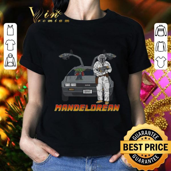 Top Baby Yoda and Mandelorean The Mandalorian shirt