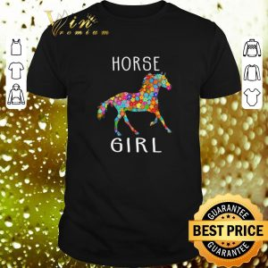 Top Horse Girl Riding Flower Horses shirt