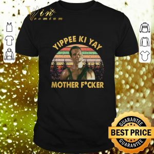 Top John McClane Yippee Ki Yay Mother Fucker Sunset Vintage shirt