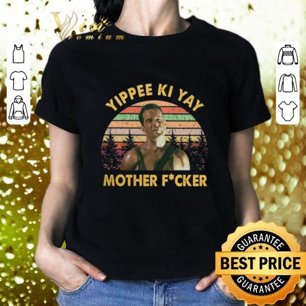 Top John McClane Yippee Ki Yay Mother Fucker Sunset Vintage shirt
