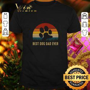 Top Paw Best dog dad ever vintage shirt