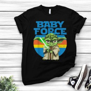 Vintage Star Wars Yoda Baby Force The Mandalorian shirt