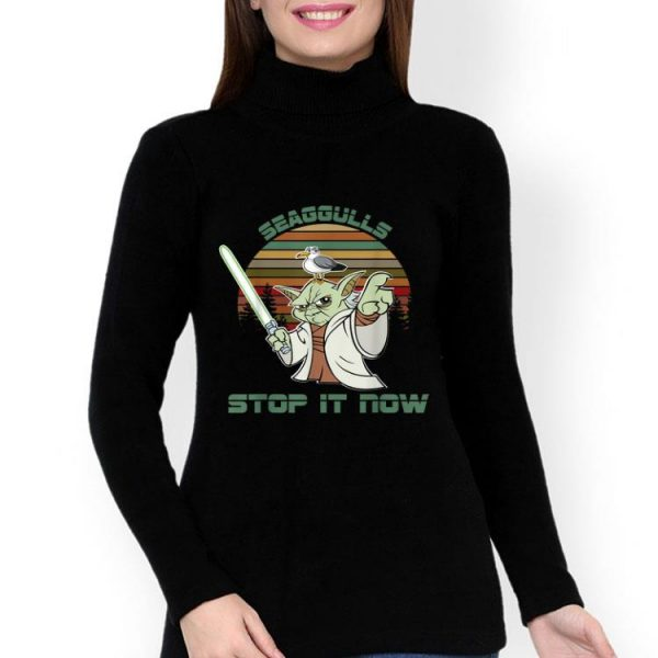 Vintage Yoda Seagulls Stop It Now shirt