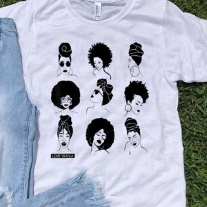 Afro And Headwrap Ladies Afrocentric Love Yaayaa shirt