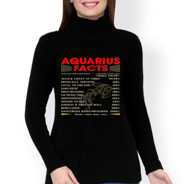 Aquarius Facts Wild And Crazy At Times Loyal To The End shirt