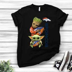 Baby Groot And Baby Yoda Hug Denver Broncos shirt