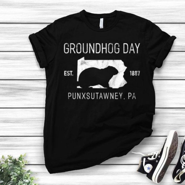 Groundhog Day Punxsutawney PA Distressed Est 1887 shirt