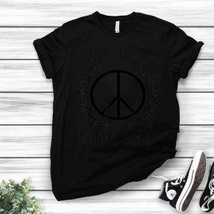 No War With Iran Peace Sign Anti-War shirt