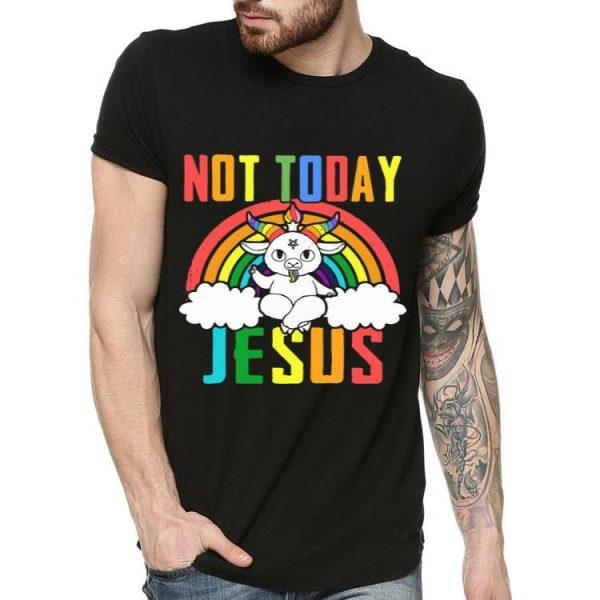 Not Today Jesus Unicorn shirt