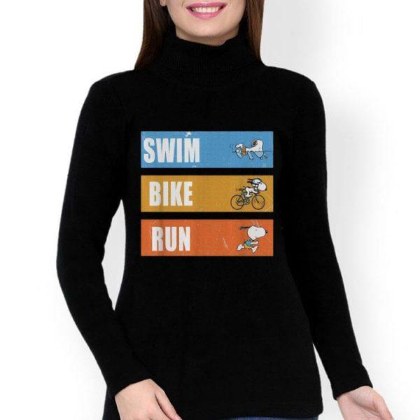 Snoopy Swim Bike Run shirt