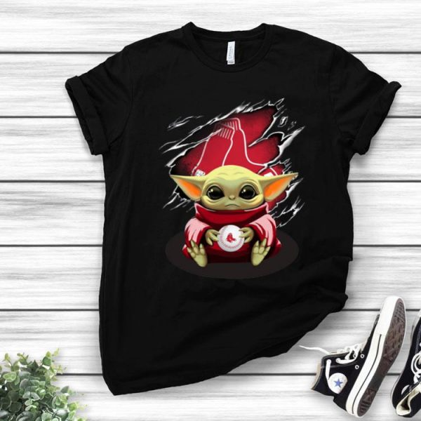 Star Wars Baby Yoda Blood Inside Boston Red Sox shirt