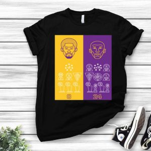 8 24 Kobe Bryant Title Collection Trophy shirt