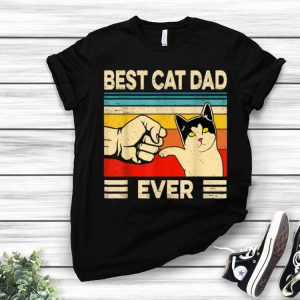 Best Cat Dad Ever Father Day Vintage Cat Lovers shirt