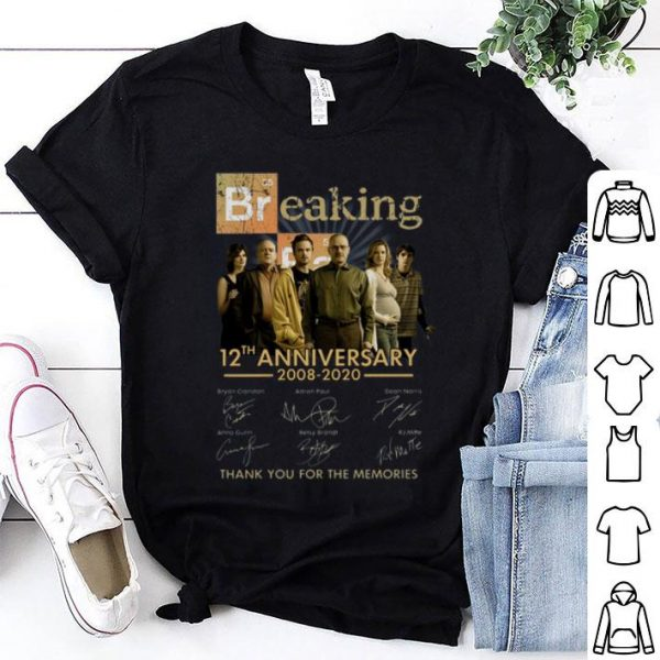 Breaking Bad 12th Anniversary 2008 2020 Signatures shirt