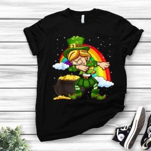 Dabbing Leprechaun St. Patrick's Day Shamrock Rainbow shirt