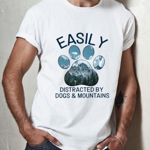Dog Lovers Easily Distracted By Dogs And Mountains shirt