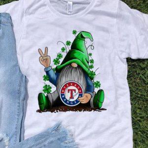 Gnomes Hug Texas Ranger Division Baseball Shamrock shirt