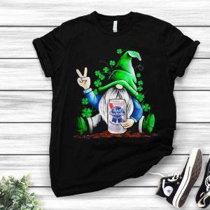 Gnomes Lucky Hug Pabst Blue Ribbon Life Shamrock St Patricks Day shirt