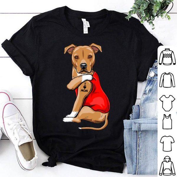 Greyhounds Tattoo I Love Mom Dog Lovers shirt