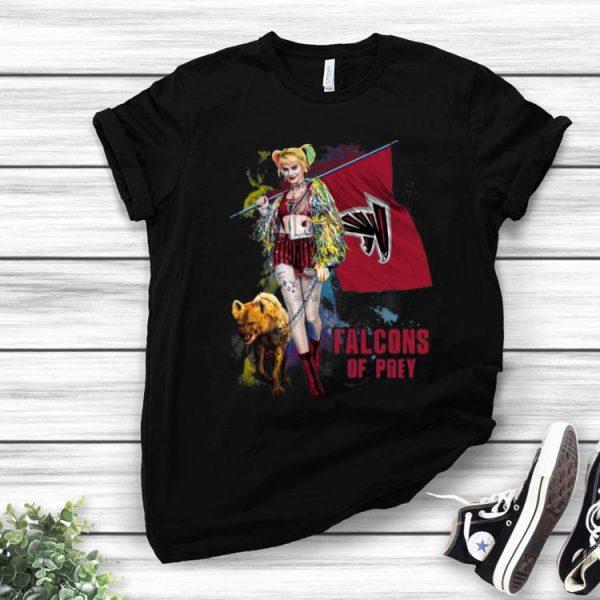 Harley Quinn Atlanta Falcons Of Prey Atlanta Falcons Flag shirt