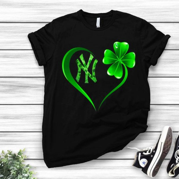 Heart Shamrock New York Yankees St. Patrick's Day shirt