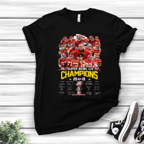 Kansas City Chiefs Super Bowl LIV Champions 2019 Signatures shirt