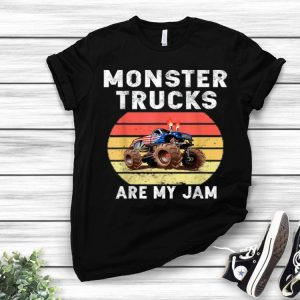 Monster Truck Are My Jam Vintage Sunset Engines shirt
