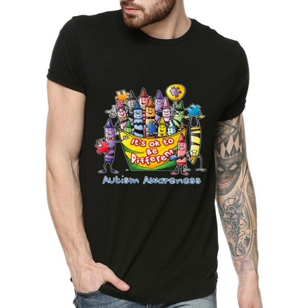 Pencil It's Ok To Be Different Autism Awareness shirt