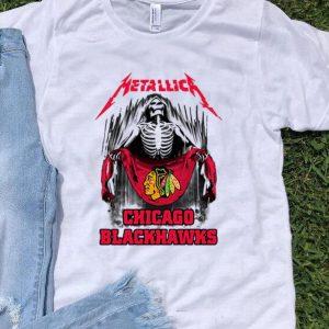 Skeleton Metallic Chicago Blackhawks shirt