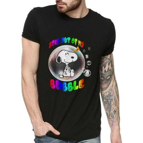 Snoopy Stay Out Of My Bubble shirt
