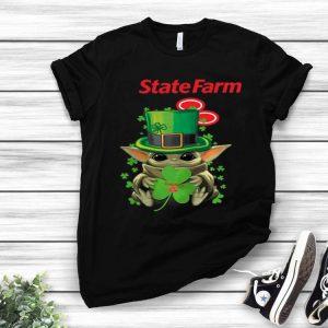 Star Wars Baby Yoda State Farm Shamrock St. Patrick's Day shirt
