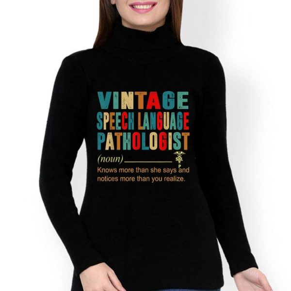 Vintage Speech Language Pathologist Definition shirt
