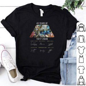 43 Years Of Star Wars Signatures Carrie Fisher shirt