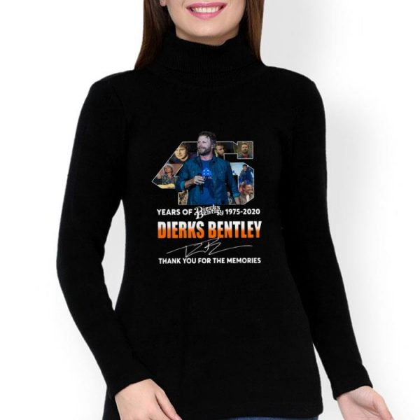 45 Years Of Dierks Bentley Thank You For The Memories Signature shirt