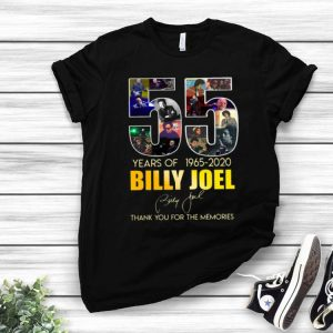 55 Years Of Billy Joel Thank You For The Memories Signature shirt
