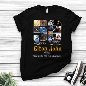 58 Years Of Elton John Thank You For The Memories Signature shirt