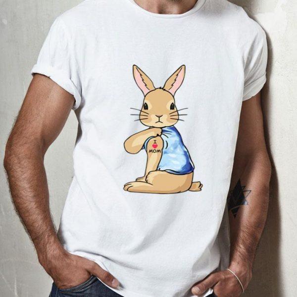 Bunny I Love Mom Tattoo Mother's Day shirt