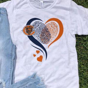 Chicago Bears Heart Fingerprint shirt