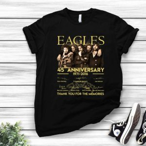 Eagles 45th Anniversary Thank You For The Memories Signatures shirt