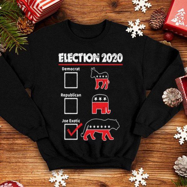 Election 2020 Democrat Republican Joe Exotic Tiger shirt